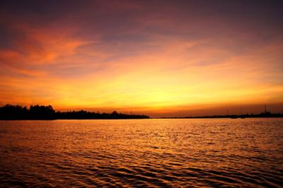 メコン川の夕日