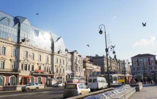 ウラジオストク中心部の街並み