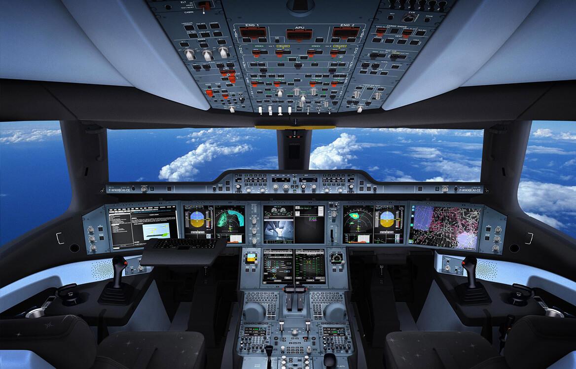 A350のコックピット(エアバス社ウェブサイトより)